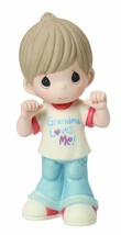 Grandma Loves Me Precious Moments Figurine Boy Jeans T-Shirt Family NWOB  - $37.61