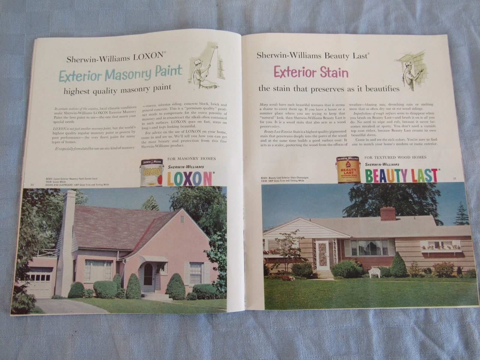 Vintage 1961 Sherwin-Williams Home Decorator Paint Catalog How To Paint Book
