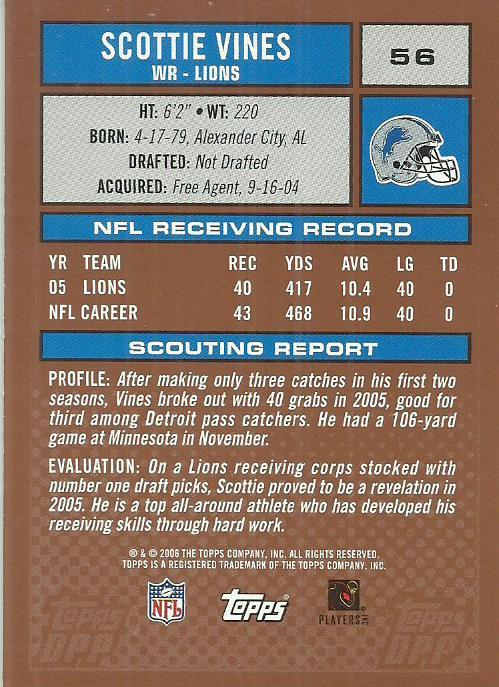 2006 Topps Draft Picks and Prospects #56 Scottie Vines