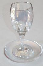 Judaica Kiddush Cup Glass Goblet Saucer Shabbat Clear Multi Color Spark image 5