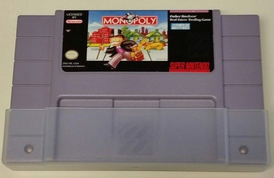 SNES Monopoly Game Cartridge #I-297
