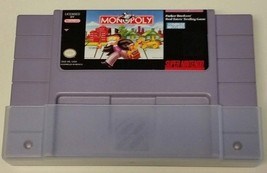 SNES Monopoly Game Cartridge #I-297 - $5.94