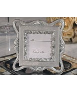 144 Elegant Silver Place Card Photo Frame Wedding Favor with Crystals - €109,04 EUR