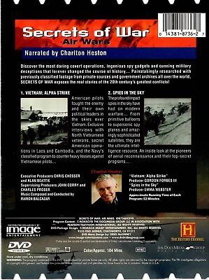 SECRETS OF WAR AIR WARS  VIETNAM ALPHA STRIKE / SPIES IN THE SKY DVD