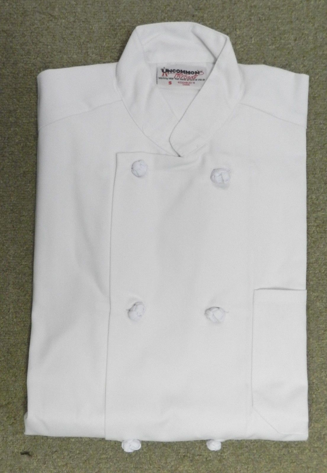Chef Jacket White XL Uncommon Threads 403 Cloth Knot Button Uniform Coat New