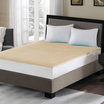 "Premium High Density Convoluted Egg Crate 1.5"" Memory Foam Mattress Topp... - $62.99"