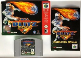 ☆ NFL Blitz 2001 (Nintendo 64 2000) AUTHENTIC N64 COMPLETE in Box Game ☆ - $28.99