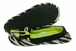 Betsey Johnson Slippers Sz XL 11 - 12 Black White Yellow Zebra Print Moc... - $17.53
