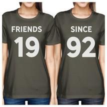 Friends Since Custom Years BFF Matching Dark Grey Shirts - $30.99+