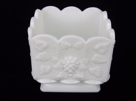 Vintage Westmoreland Raised Grape Panel White Milk Glass Square Nut / Ca... - $12.69