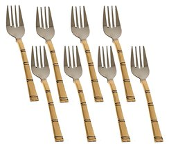 RASTOGI HANDICRAFTS Modern Fork Cutlery Set Stainless Steel and Copper f... - $38.12