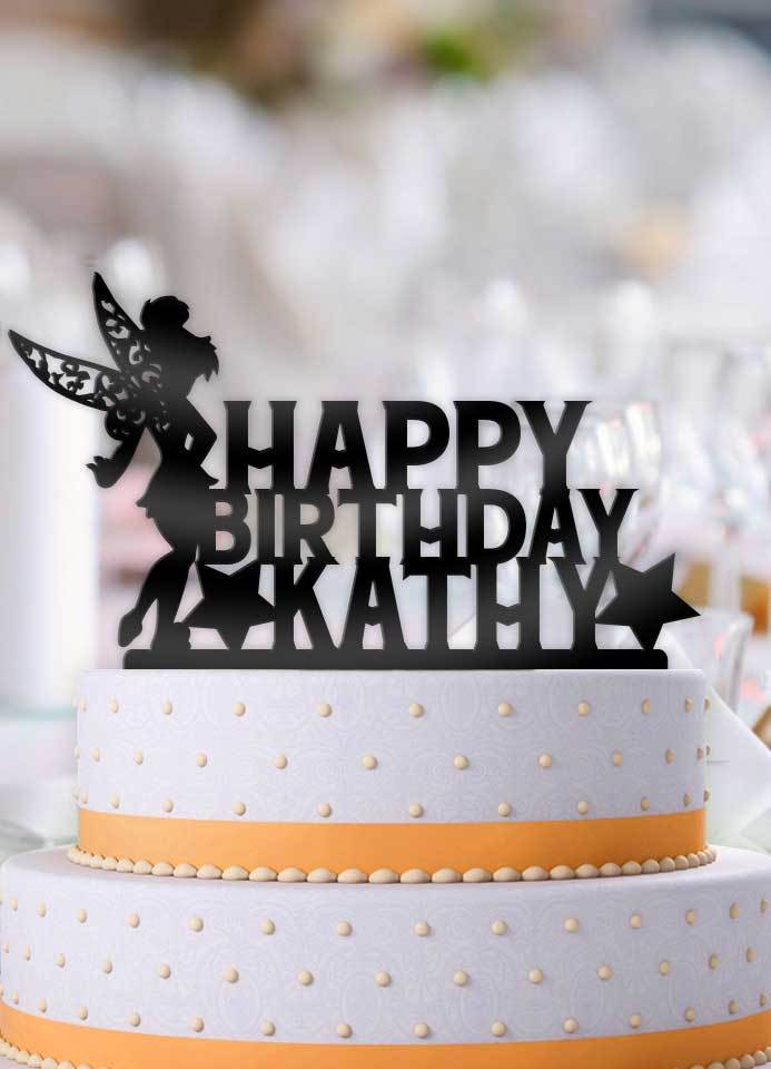 Personalized Tinkerbell Birthday Cake Topper And 50 Similar Items Personal