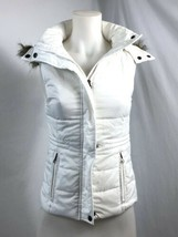 American Rag Cie White Quilted Hooded Vest, Women's Size XXS - $20.89