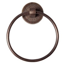 The Copper Factory CF134AN Solid Copper Towel Ring with a Round Backplat... - $70.36
