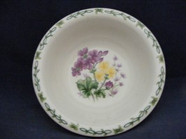 "Thomson Floral Garden 7"" Soup Bowl Purple & Yellow Flowers - $9.99"