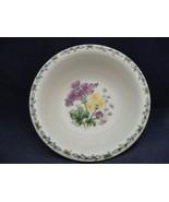 "Thomson Floral Garden 7"" Soup Bowl Purple & Yellow Flowers - $9.99"