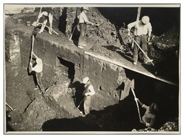 1932 Archeology Dig Archeologist Discovery Rome Photograph Photo Underwo... - $49.49