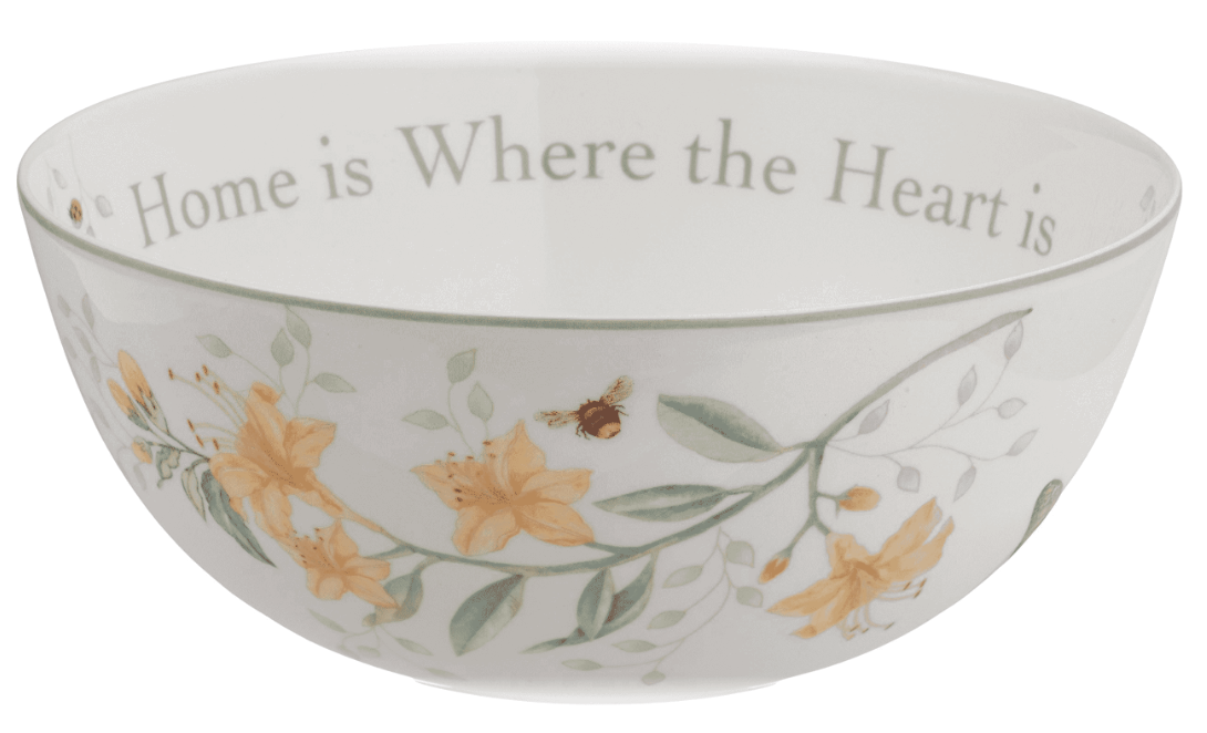 Lenox Butterfly Meadow Serving Salad Bowl Home is Where The Heart Is NEW
