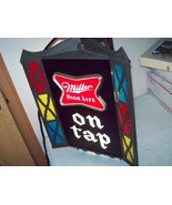 Miller High Life revolving stained glass lighted clock Sign 3 side NEW O... - $693.00
