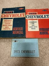 1973 Chevy Chevelle Camaro Monte Carlo Nova Corvette Service Negozio Man... - $79.27