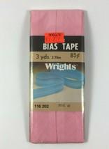 Wrights Pink 61 Wide Bias Tape 3 yards Vintage NIP - $2.97