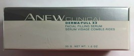 Sealed Avon Anew Clinical DERMA-FULL X3 Facial Filling Serum 1.0 Oz - $39.59