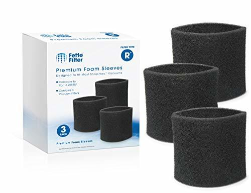 Fette Filter - Foam Sleeve Vacuum Filter Compatible with ShopVac 90304 and 90585