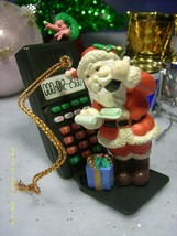 CHRISTMAS TRADITIONS VINTAGE HOLIDAY ORNAMENT SANTA CELLPHONES HIS WORKSHOP - $9.80