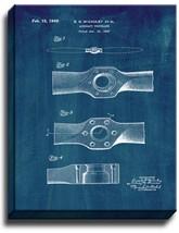 Aircraft Propeller Patent Print Midnight Blue on Canvas - $39.95+