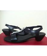 Munro American Bree Black Kid Leather Strappy Heels Sandals Size 7.5 NN - $96.68