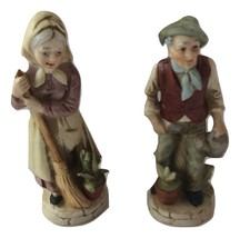 """Vintage Porcelain Male and Female Decorative Statues - Height 5 1/2""""  - $15.00"""