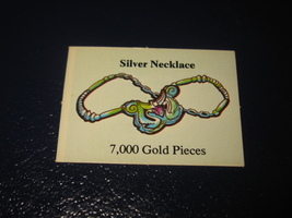 1980 TSR D&D: Dungeon Board Game Piece: Treasure 5th Level Card- Silver Necklace - $1.00