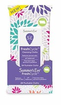 Summer's Eve FreshCycle Cleansing Cloths | Reduces Period Odor | 24 Count - $5.11