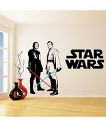 (94'' x 66'') Star Wars Vinyl Wall Decal / Obi Wan Kenobi & Anakin Skywa... - $143.73