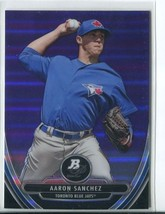 AARON SANCHEZ PURPLE REFRACTOR RC 2013 Bowman Platinum Chrome Prospects ... - $2.75