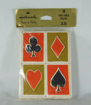Hallmark Plans-A-Party 8 Two Table Tallies Bridge Tally Card Suit Design - $10.50