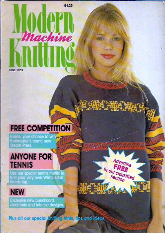 Primary image for Modern Machine Knitting Jun 1989 Magazine Wimbledon Special Tennis Motifs & More