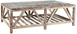 Contemporary Recycled Wood Nantucket Coffee Table.57''D x 30'' x  20''H. - $529.65