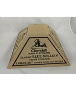 Churchill Classic Blue Willow 3 Pc Plate Cup Saucer Dish Set - $14.95