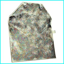 Sephora Collection TINSEL TIME makeup bag clutch sturdy flexible w snaps NWT - $18.00