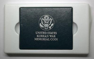 1991 D KOREAN WAR MEMORIAL 90% SILVER COIN UNCIRCULATED WITH BOX & COA #DBW