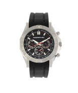 Morphic M75 Series Tachymeter Strap Watch w/Day/Date - Silver/Black - $330.00
