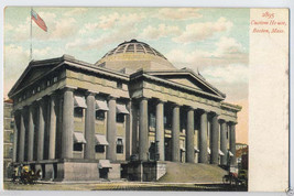1900's BOSTON Mass. CUSTOM HOUSE Bldg. MA MASSACHUSETTS Vintage POSTCARD... - $5.95