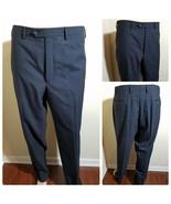 Lauren Ralph Lauren Men's Dress Pants Flat Front Black Slacks Wool Blend... - $55.79