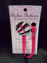 "Binkie Buttons Initial ""N"" Multi-Color Pacifier Clip NEW LAST ONE - $29.99"