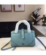 NWT Coach 37779 Mercer satchel 24 in Grain Leather Handbag Cloud Blue Au... - $249.00