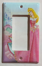 Princess Sleeping Beauty Castle Light Switch Power Outlet wall Cover Plate Decor image 3