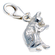 Sterling 925 Silver Welded Bliss British Charm Cat Licking Paw Clip On fit - $19.74