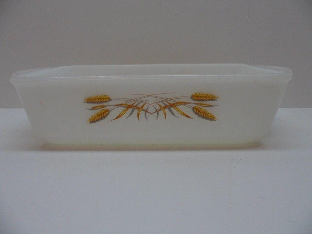 Fire King # 409 Baking Dish Casserole Golden Wheat Vintage - $17.81