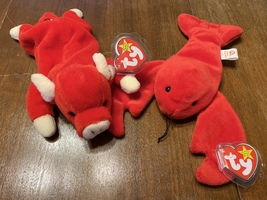 Retired Pinchers and Snort Beanie Babies - $30.00
